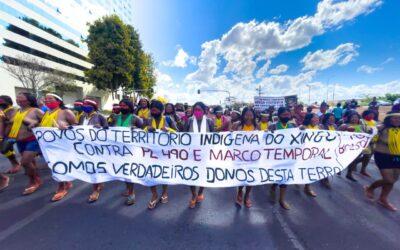 STF retoma julgamento do marco temporal e acampamento indígena se mantém mobilizado em Brasília